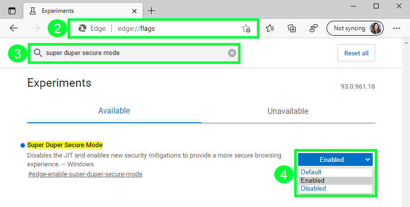 How to enable Microsoft Edge Super Duper Secure Mode